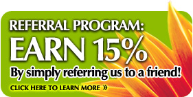 Referral Program: Earn 15% by referring our website services!